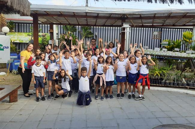 Aula prática no Núcleo de Educação Ambiental com Alunos do 4° ano A