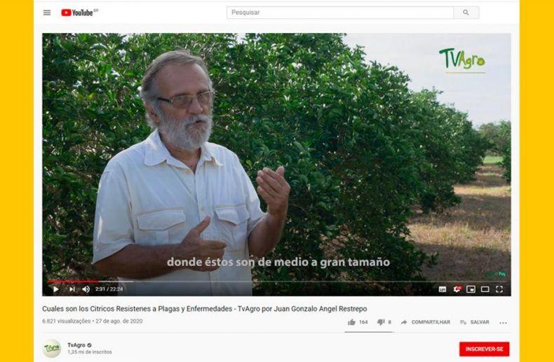 TV colombiana apresenta tecnologias da Embrapa