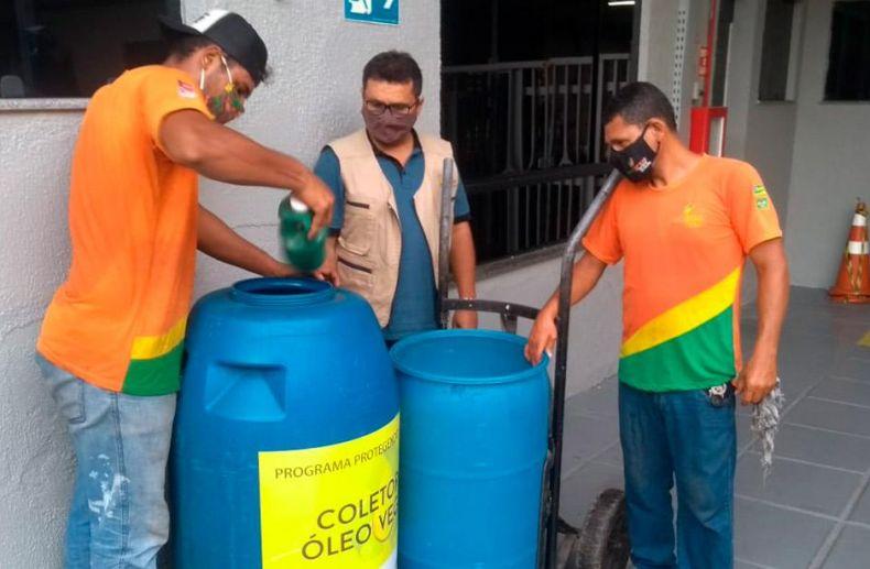 Coleta de óleo vegetal usado e a implantação de ecopontos